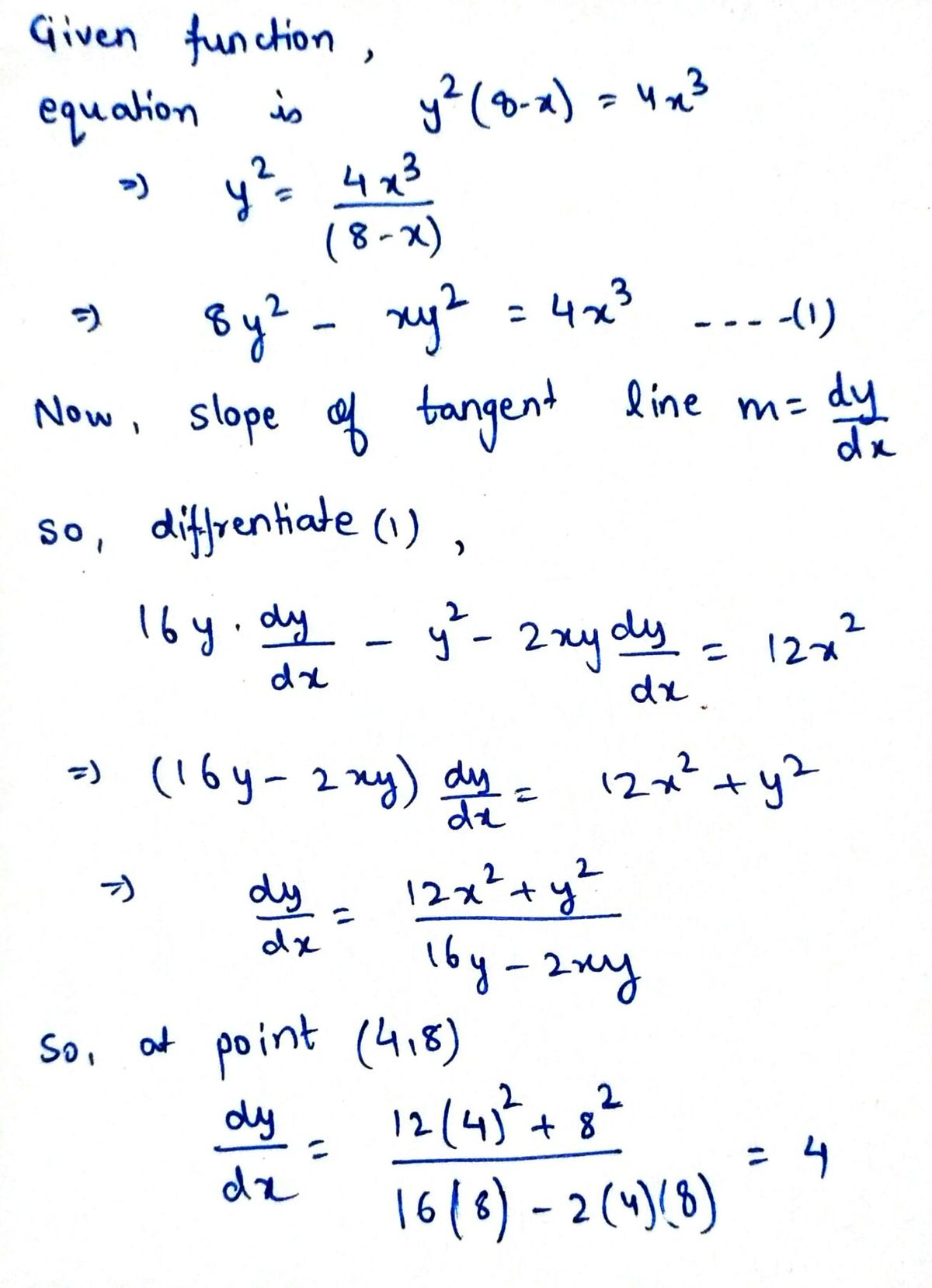 Answered Find Equations For The Lines Tangent