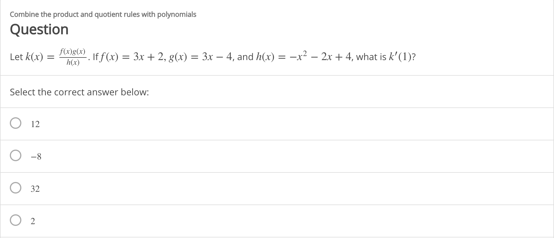 Answered Combine The Product And Quotient Rules