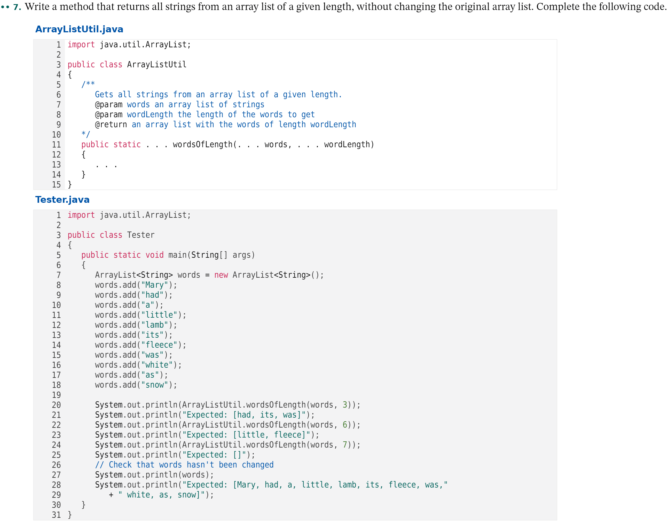 Answered Write A Method That Returns All Strings