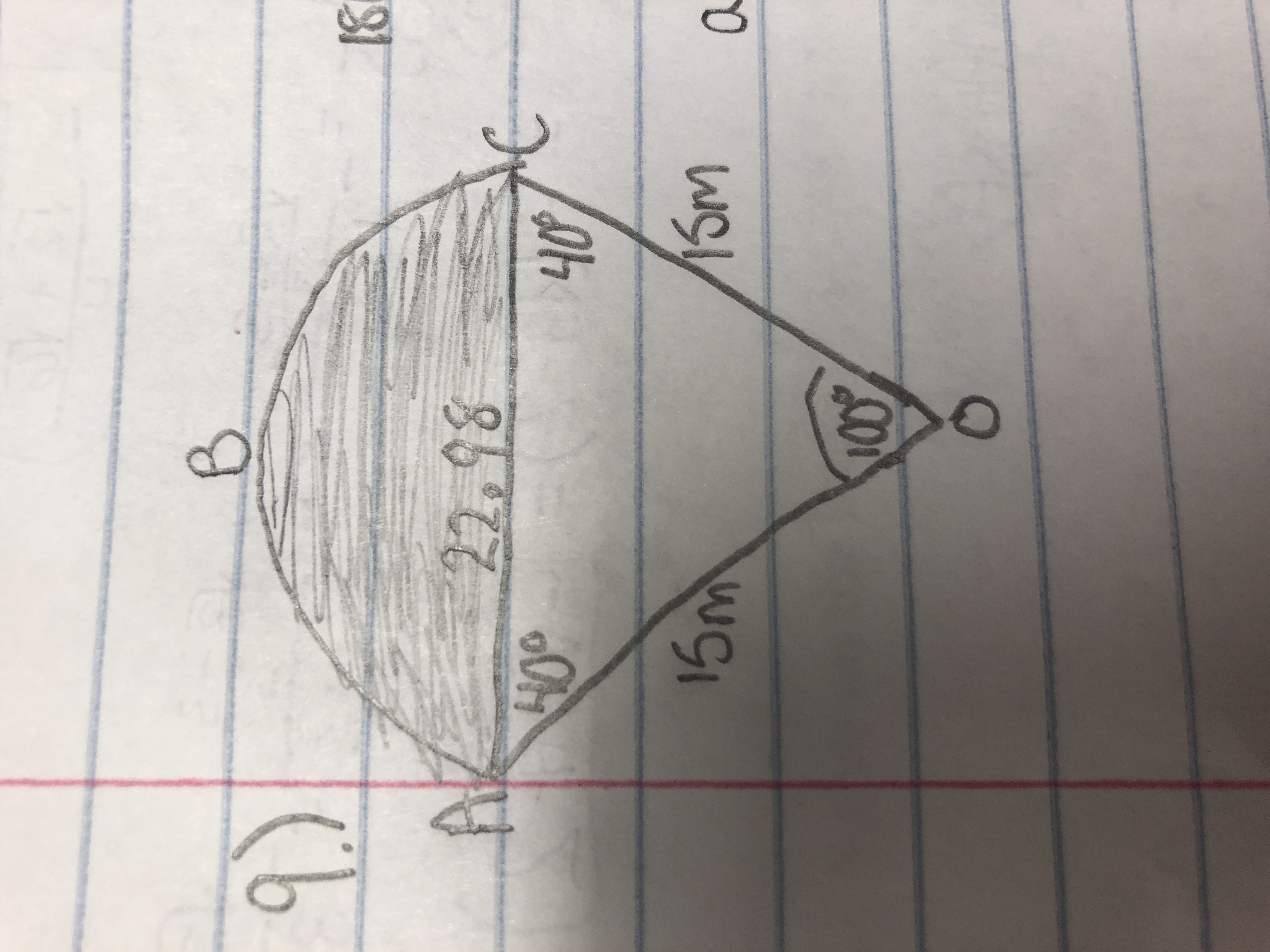Answered A Find The Area Of The Shaded Region
