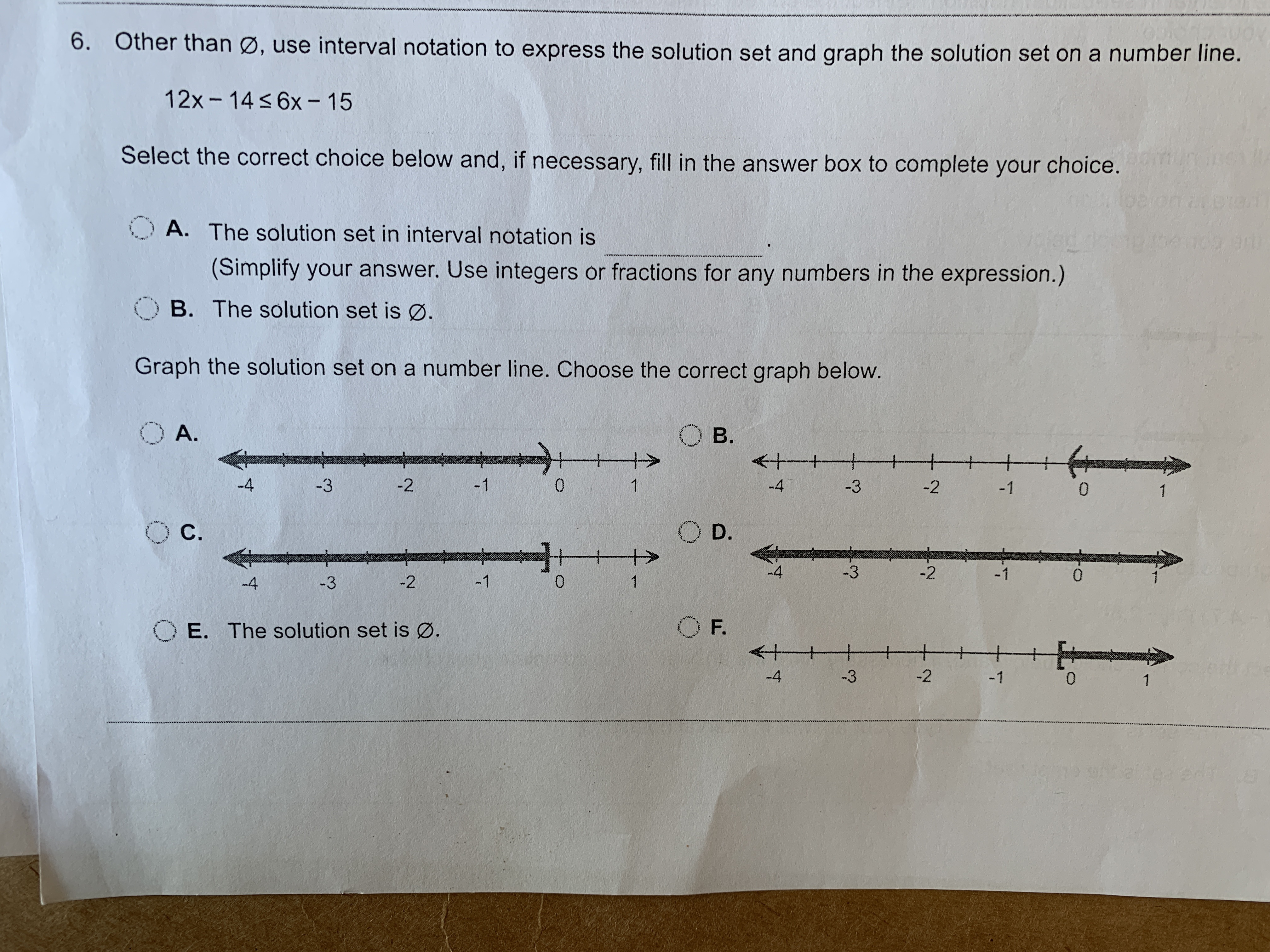 Answered 6 Other Than Use Interval Notation