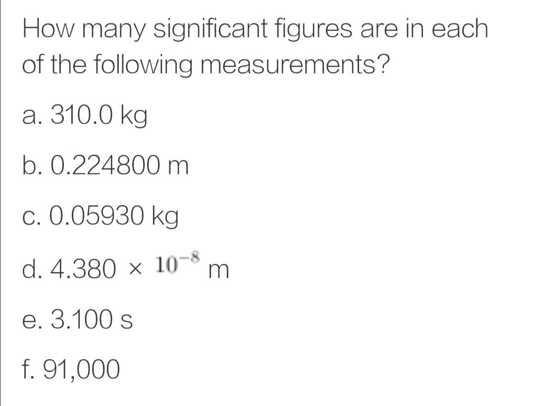 Answered How Many Significant Figures Are In