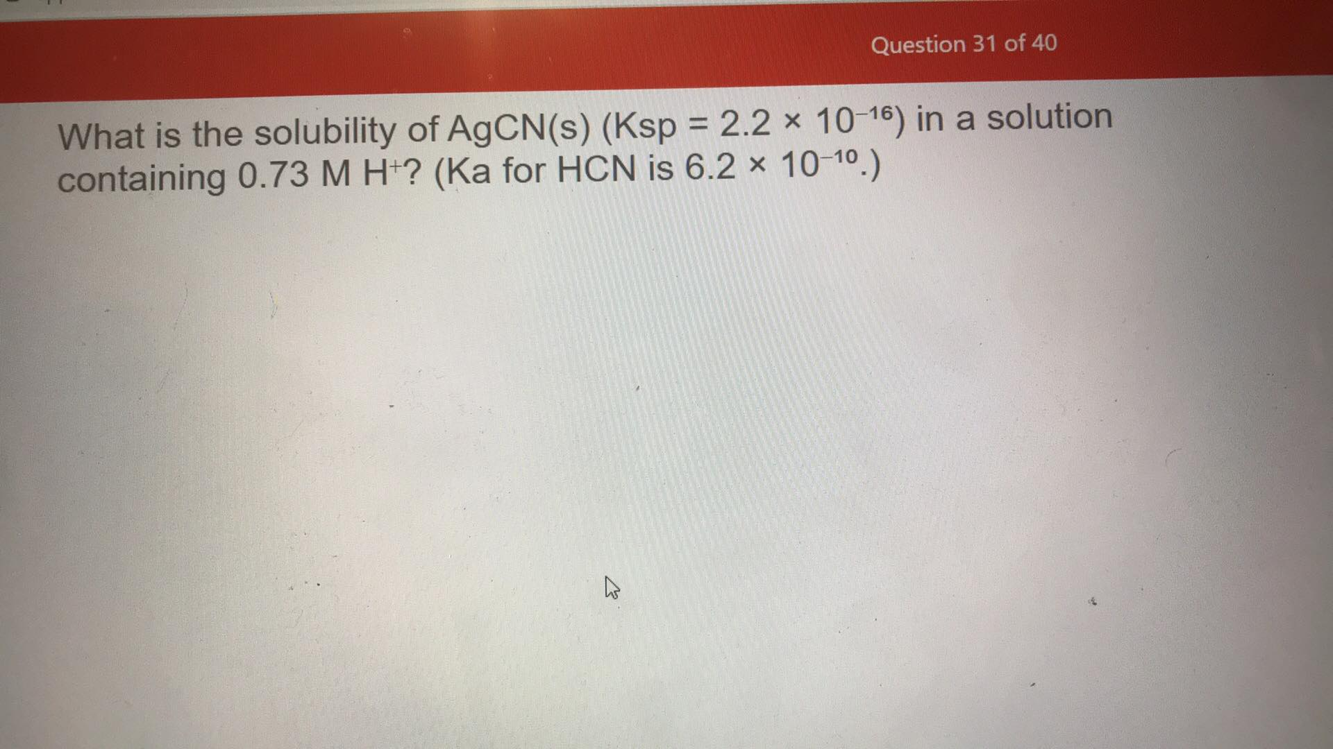 Answered What Is The Solubility Of Agcn S Ksp