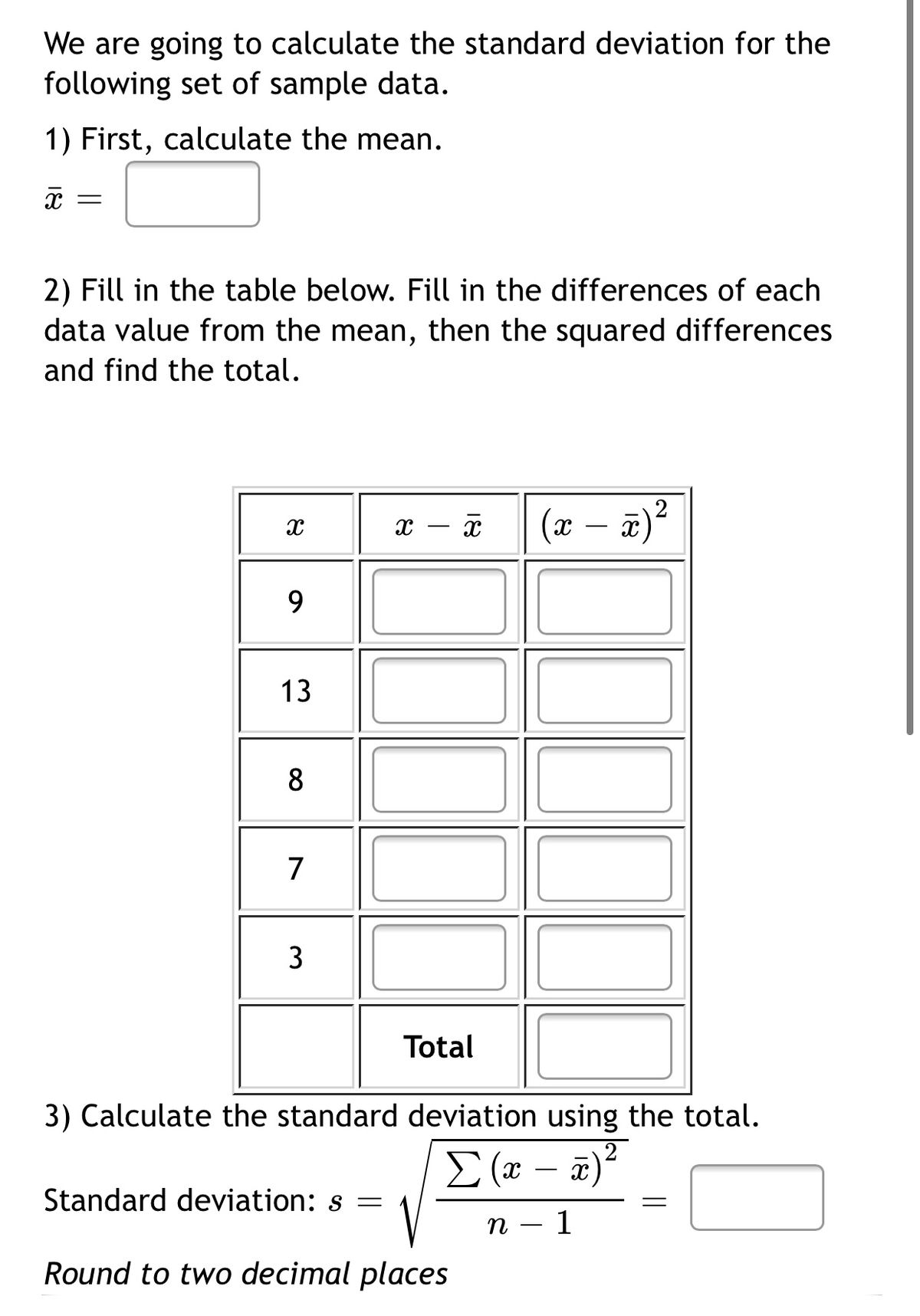 Answered We Are Going To Calculate The Standard