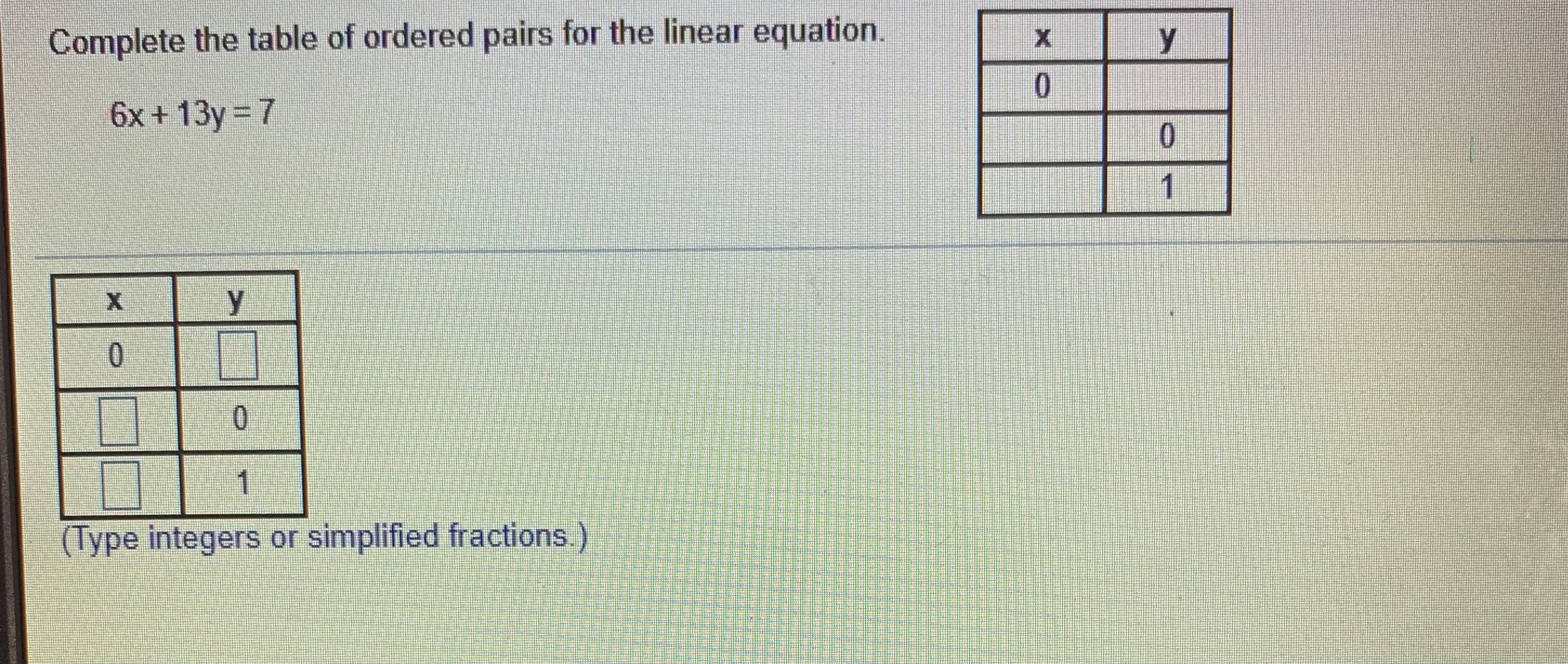 Answered Complete The Table Of Ordered Pairs For