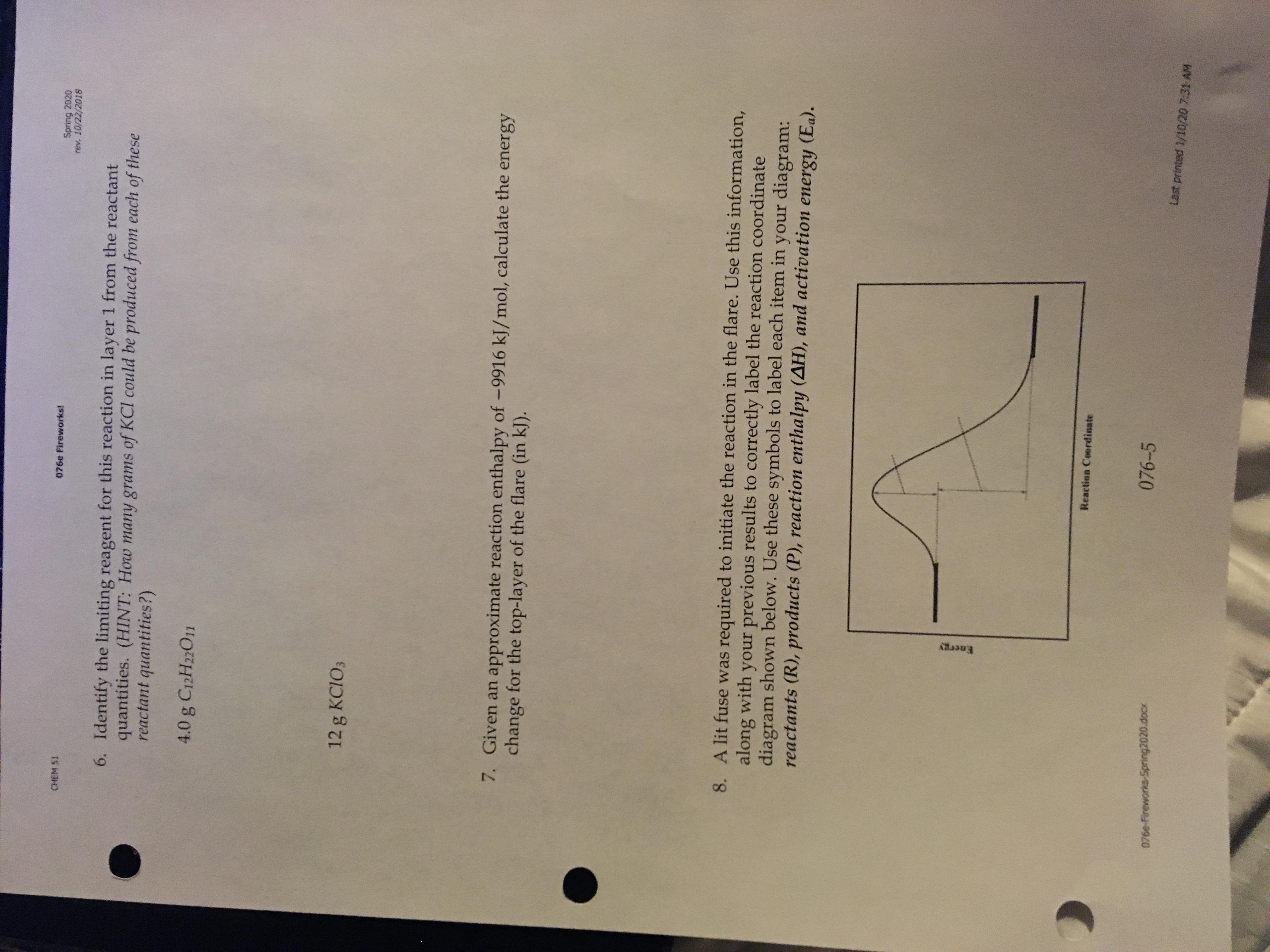 Answered Spring Rev 10 22 Chem S1