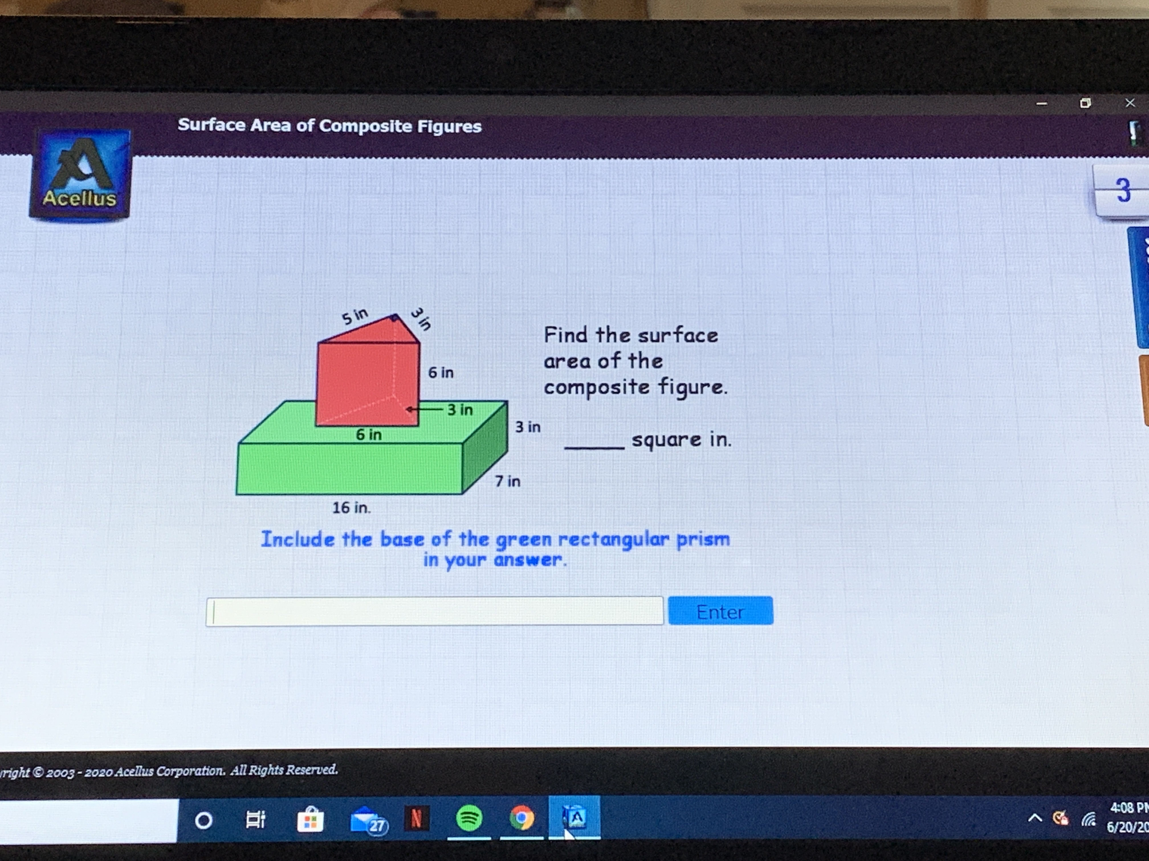 Answered 5 In Find The Surface 6 In Area Of The