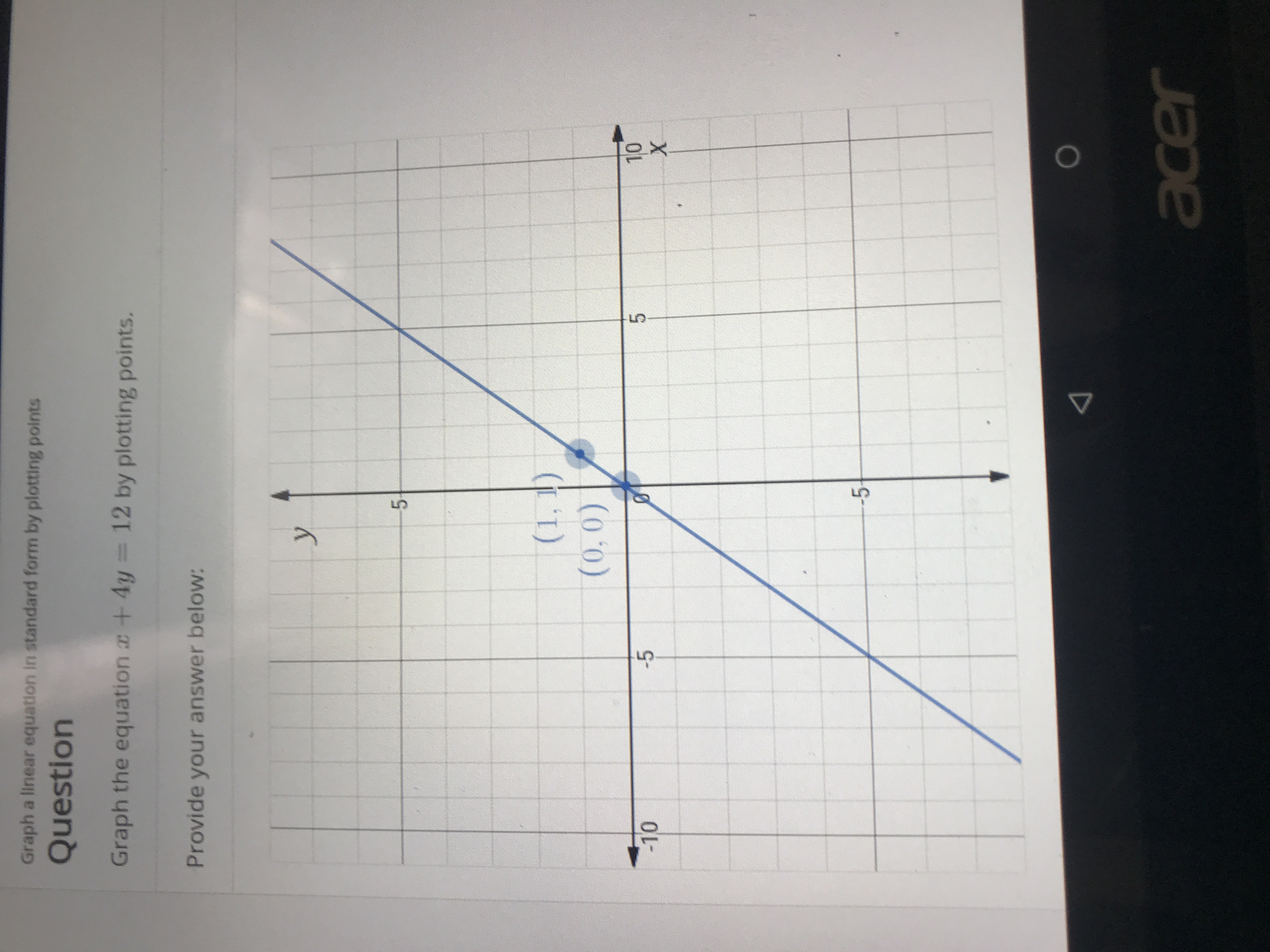 Answered Graph A Linear Equation In Standard