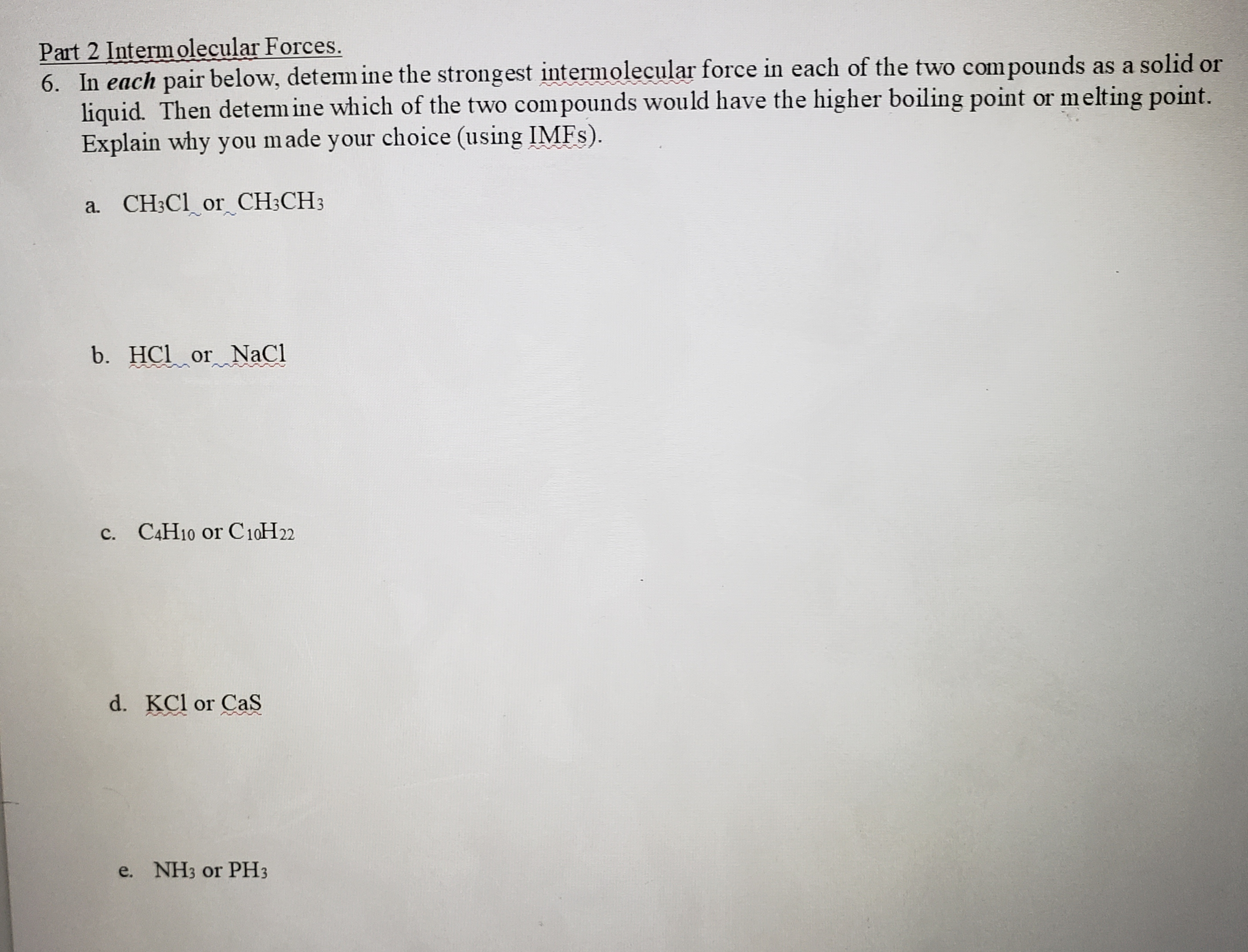 Answered Part 2 Intermolecular Forces 6 In