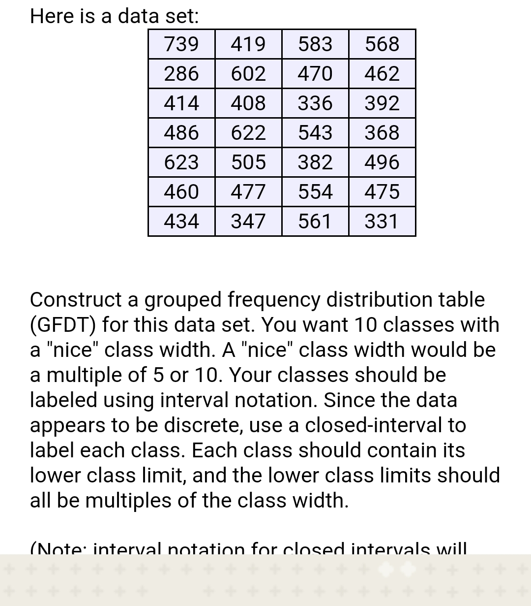 Answered Construct A Grouped Frequency