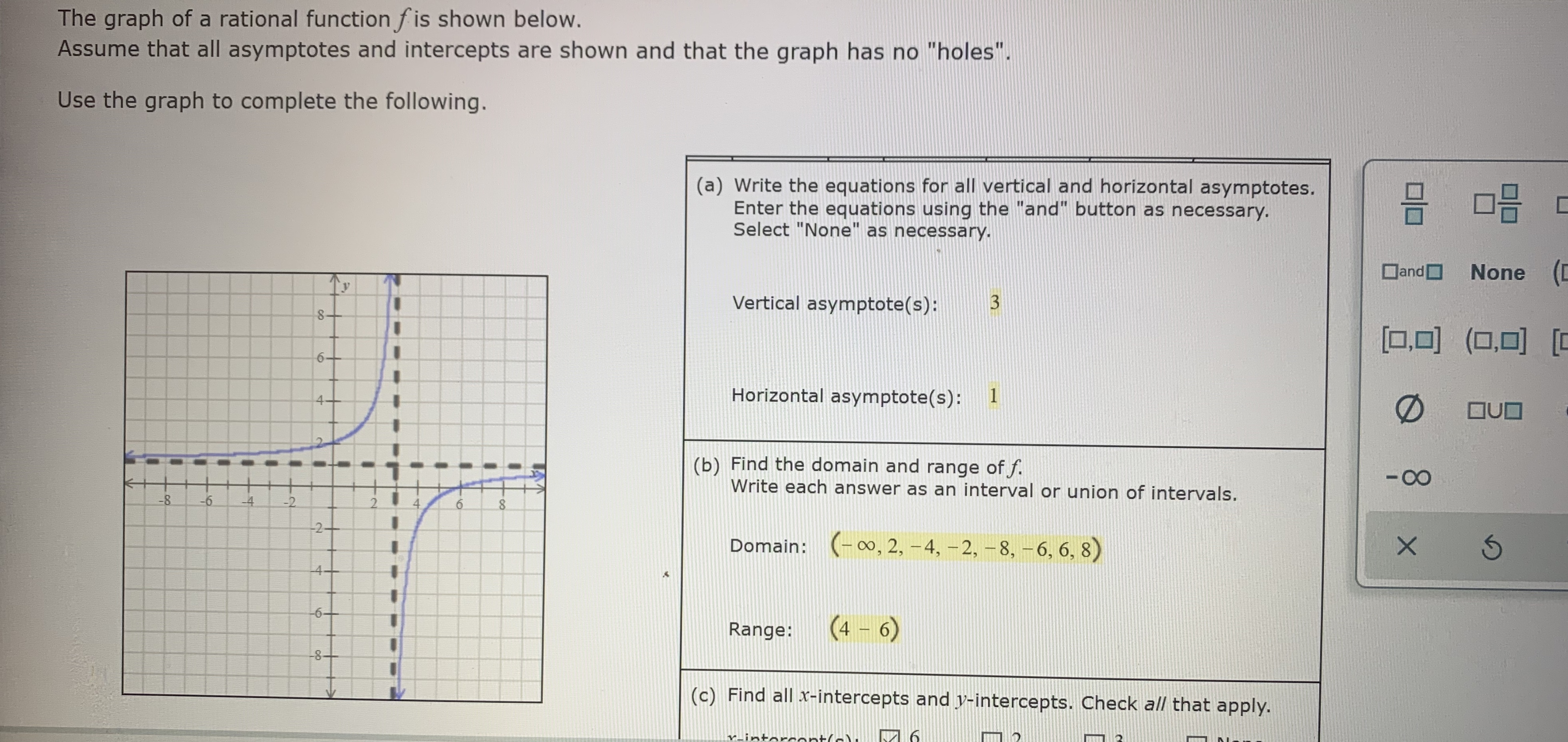 Answered The Graph Of A Rational Function F Is