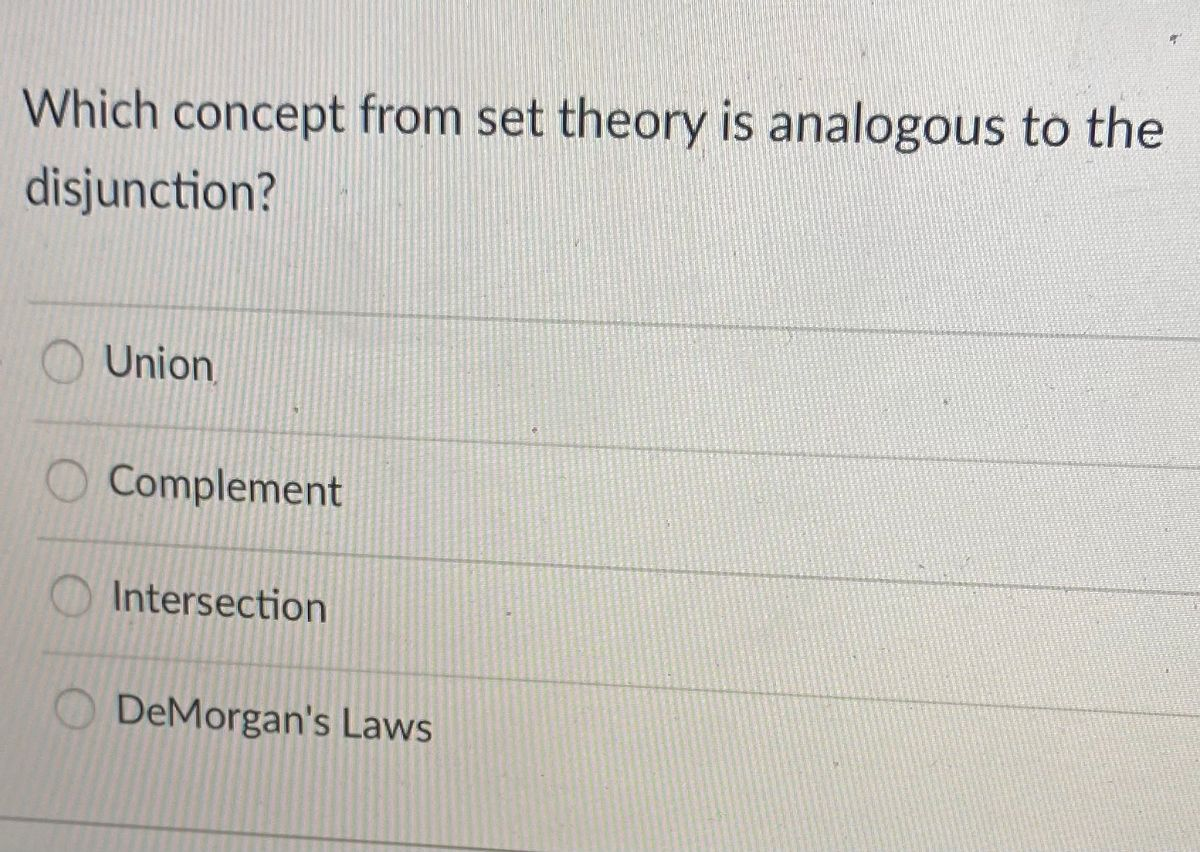 Answered Which Concept From Set Theory Is