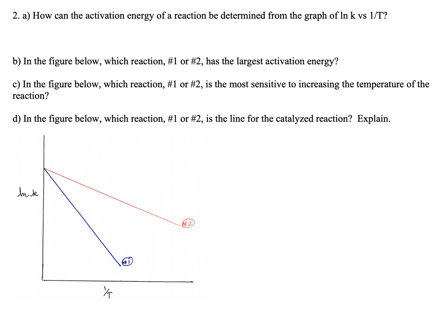 Answered 2 A How Can The Activation Energy Of