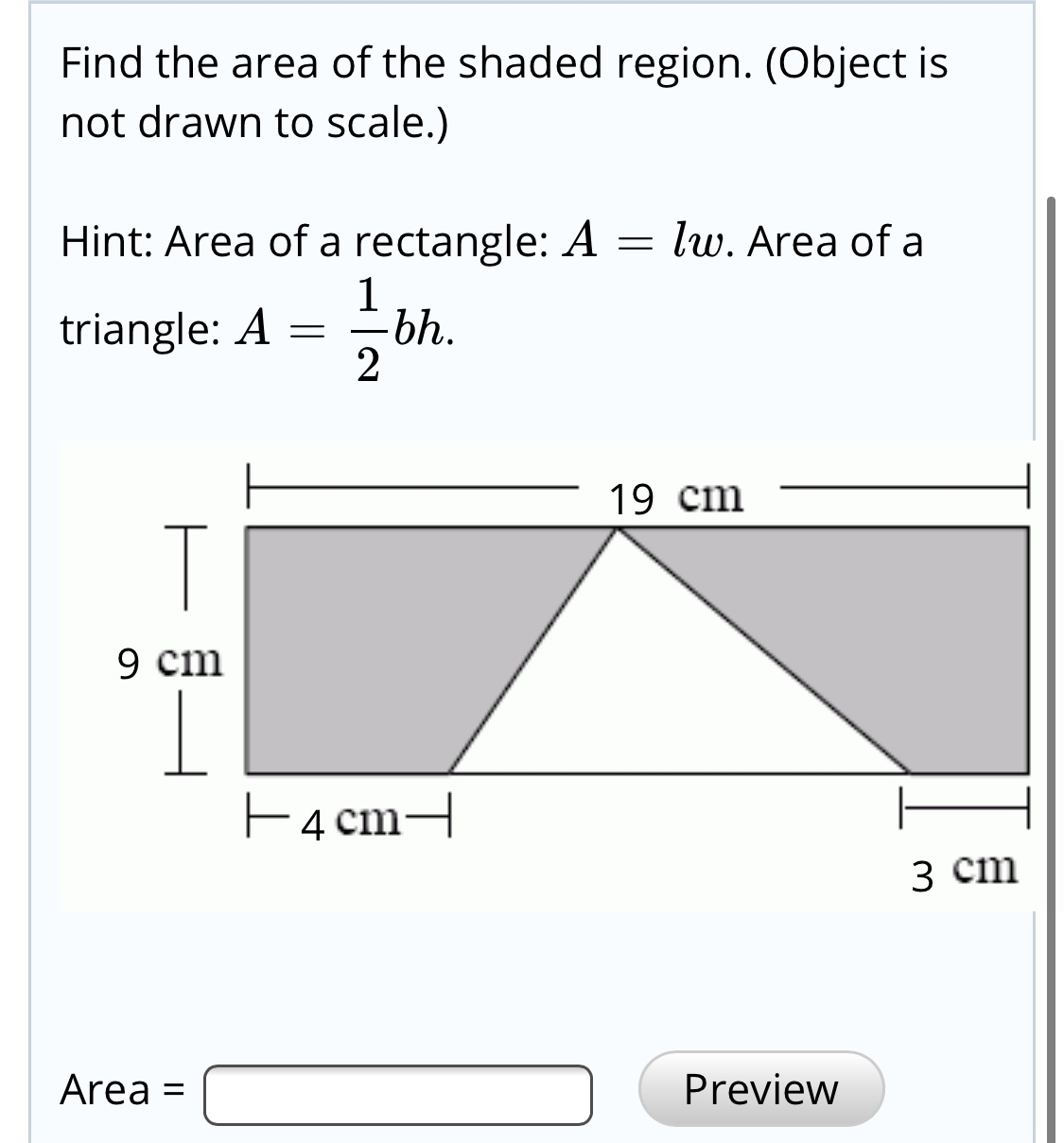 Answered Find The Area Of The Shaded Region