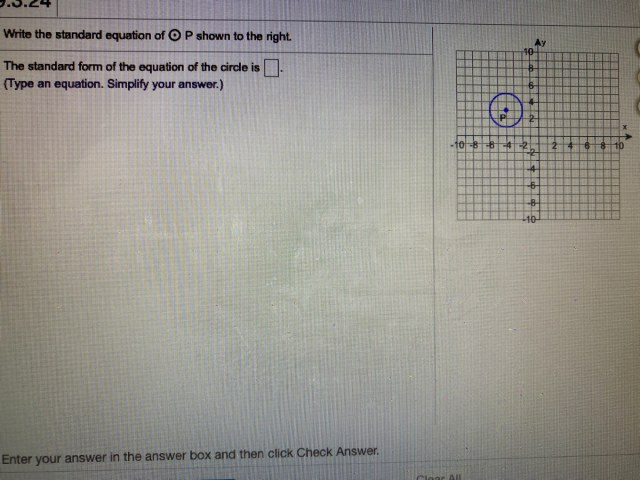 Answered: Write the standard equation of P shown  bartleby
