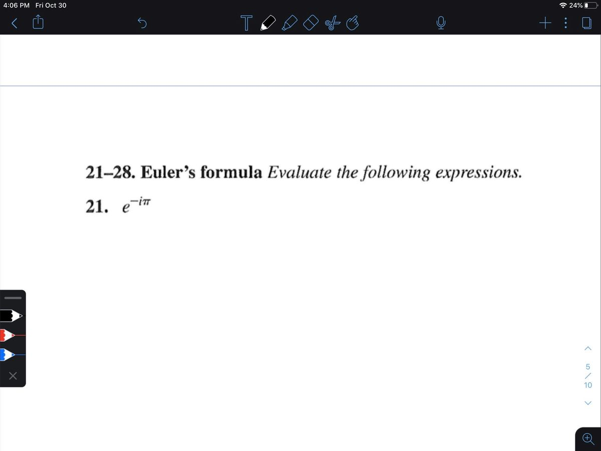 Answered Euler S Formula Evaluate The Following