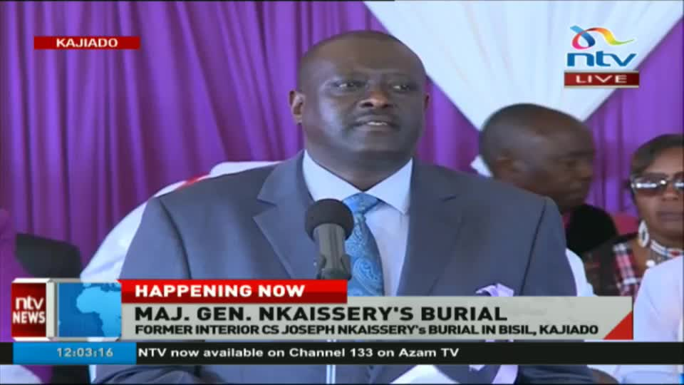 Image result for Former Interior CS Joseph Nkaissery's burial in Bisil, Kajiado