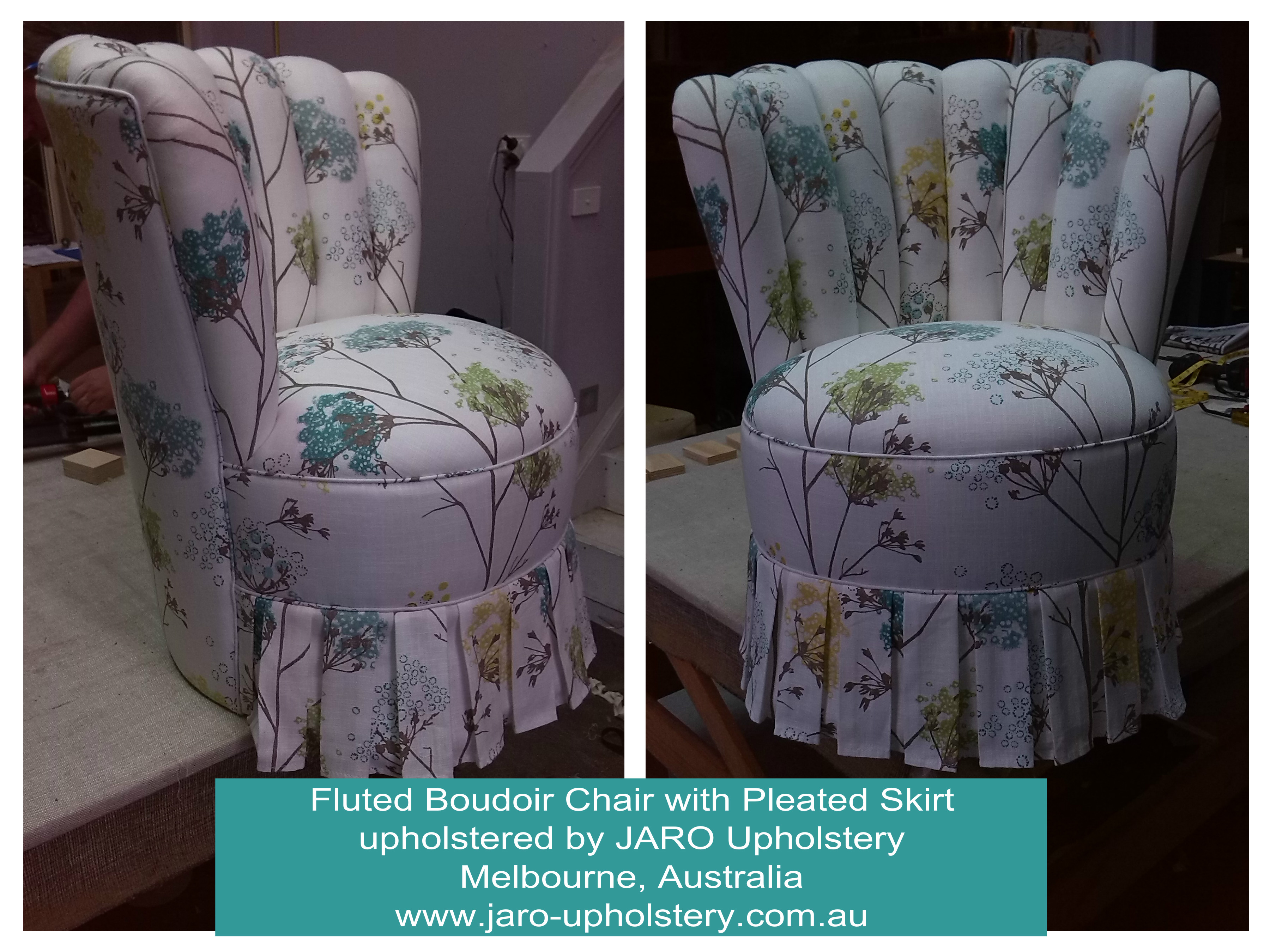 bedroom chair with skirt plastic dining covers uk boudoir pleated melbourne