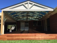 deck and pitched roof pergola - JP Carpentry