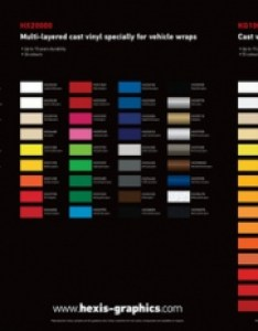 Hexis colour chart also gettint by trublutint window tinting rh
