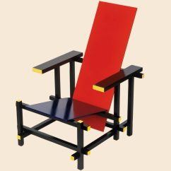 Red Blue Chair Desk Carpet Mat Design Classic The By Gerrit Rietveld