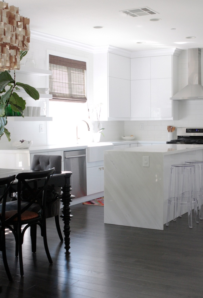 Modern Waterfall Kitchen Island -Becki Owens Blog