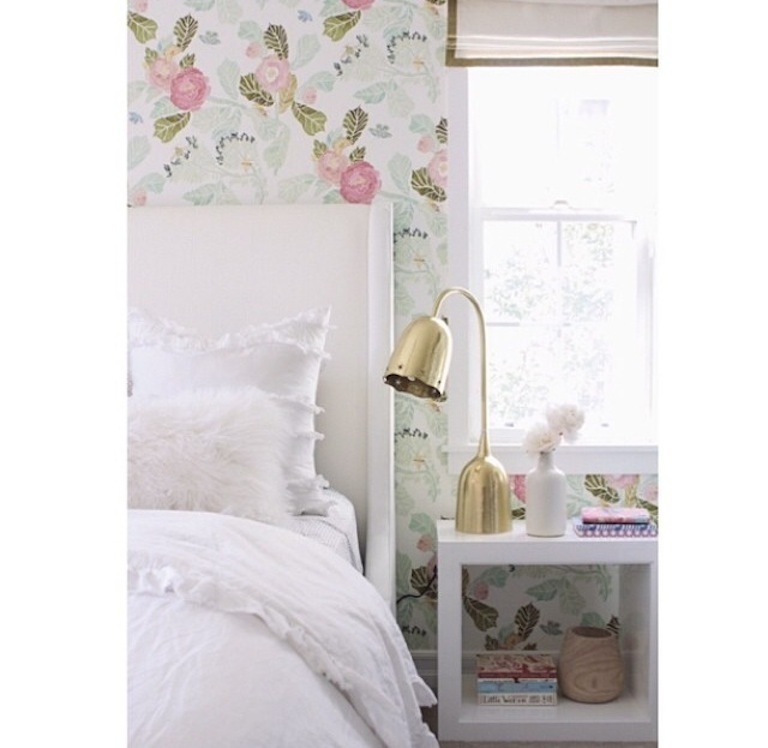 pink floral wallpaper becki owens blog
