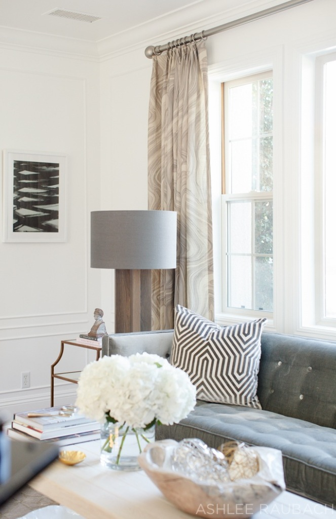 becki owens blog modern living room with planters and kelly wearstler