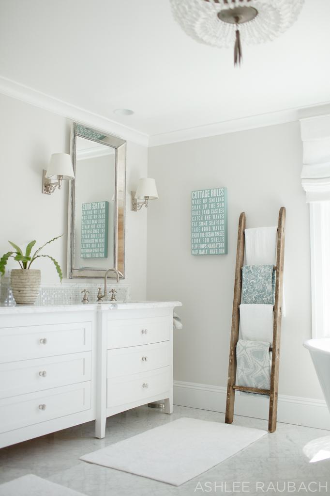 white marble bathroom becki owens blog