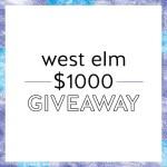 $1000 West Elm Giveaway