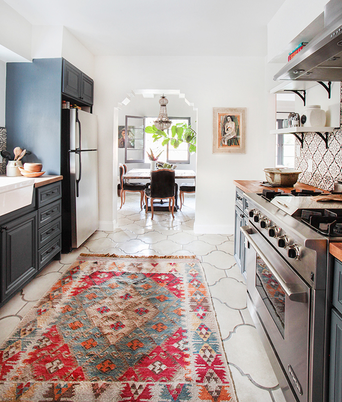 pottery barn kitchen rugs professional accessories before and after modern spanish
