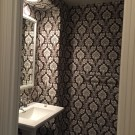 Before and After: Dark Floral Bathroom