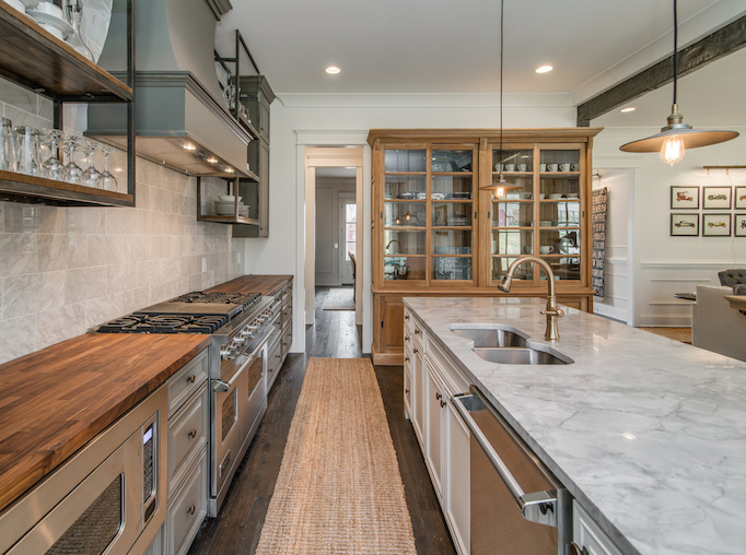 gray rustic kitchen