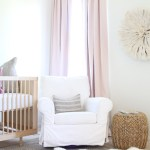 A Soft Pink and Gold Nursery