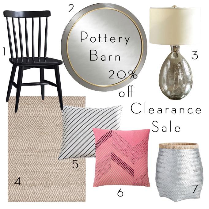 pottery barn clearance sale