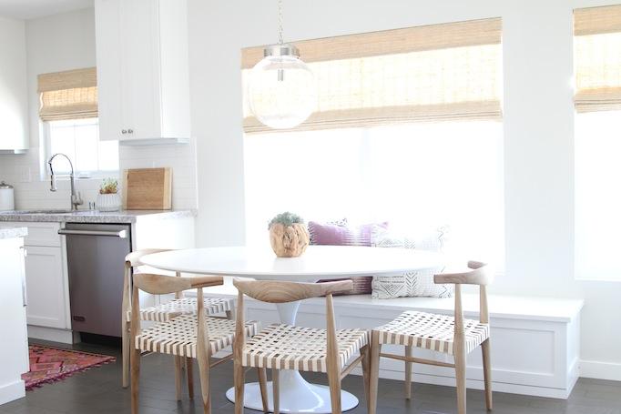 modern bohemian kitchen nook