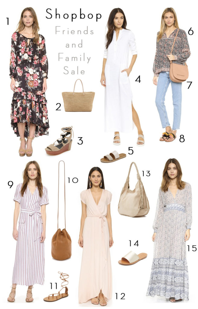 shopbop friends and family sale