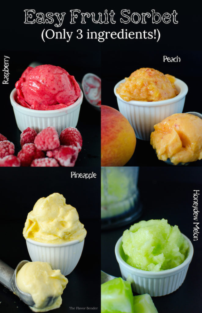 3 ingredient sorbets