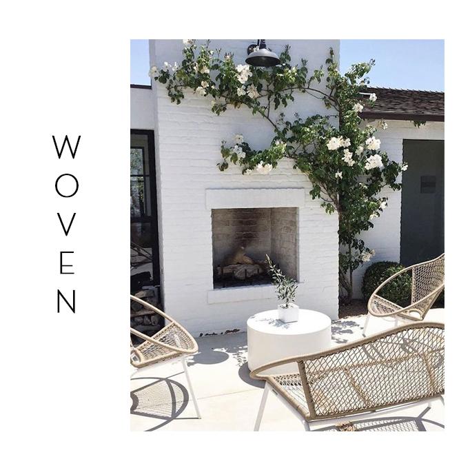 woven outdoor chair