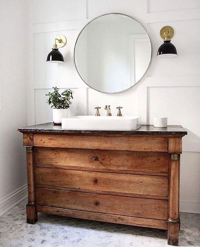 Wood Dresser Sink