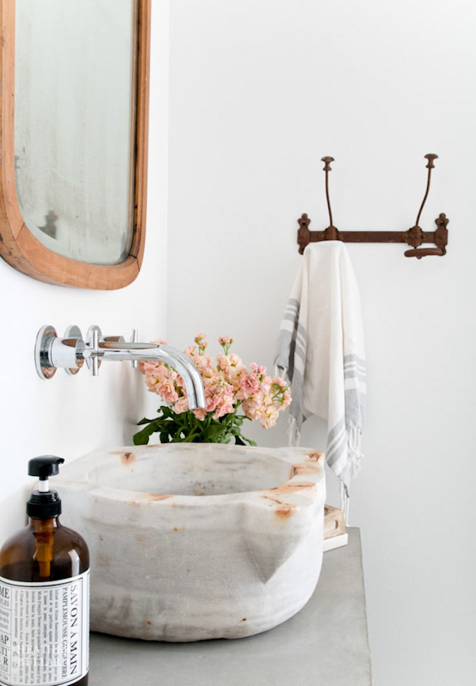 Beautiful Antique Marble Vessel Sink