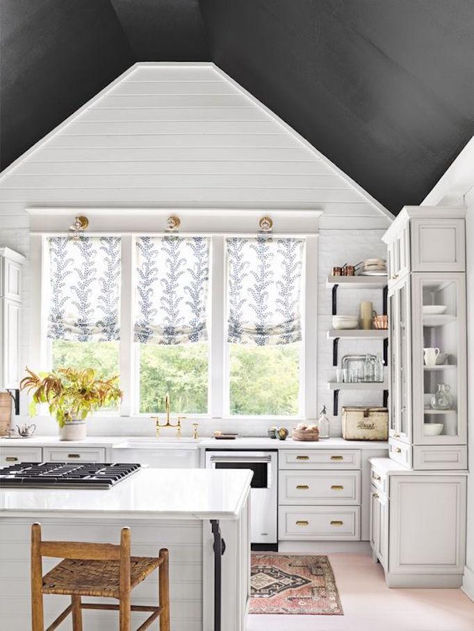 andersen kitchen windows top painting trend - black ceilingsbecki owens