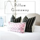 Boho Pillow Giveaway