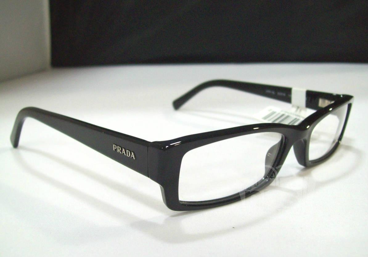 a66100e8db39 Prada Pr 19lv Men 39s Black Designer Eyeglass Frames Ebay