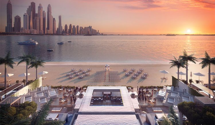 Room views of Dubai and Palm Jumeirah