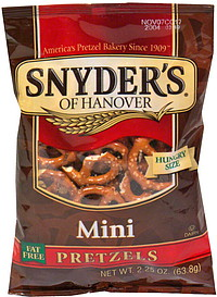 Snyder39s of Hanover Pretzels Mini Hungry Size 225 oz