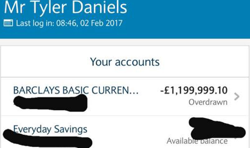 British Man Wakes To Find He S 2 Million Overdrawn