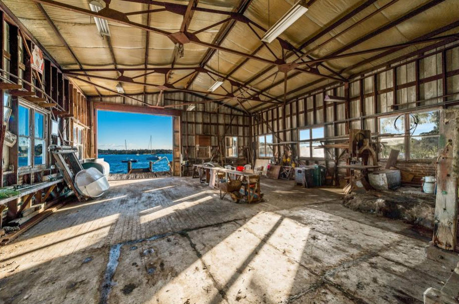 Historic 7 million boat shed for sale with a twobedder