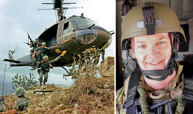 Major Stuart McCarthy, right, is being treated for an acquired brain injury after being exposed to mefloquine, developed by US army doctors during the Vietnam War, left. (Main photo: AP).
