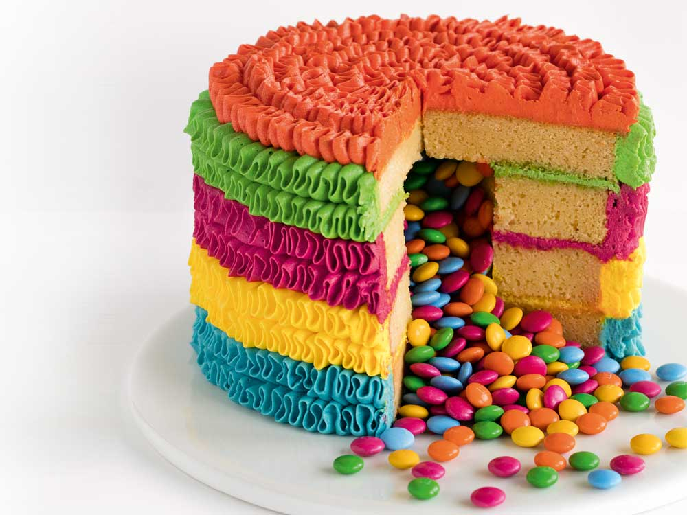 piñata surprise birthday cake